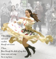 Festival of world music in St Maixent de L'Ecole, France.  Gipsy Dancer