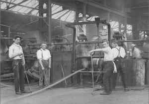 Catchers at the rolling mills courtesy    Local History LibraryLondon Borough of Enfield