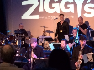 Steve Taylor's big band.  Josie centre at back and Steve with his formidable drum kit.