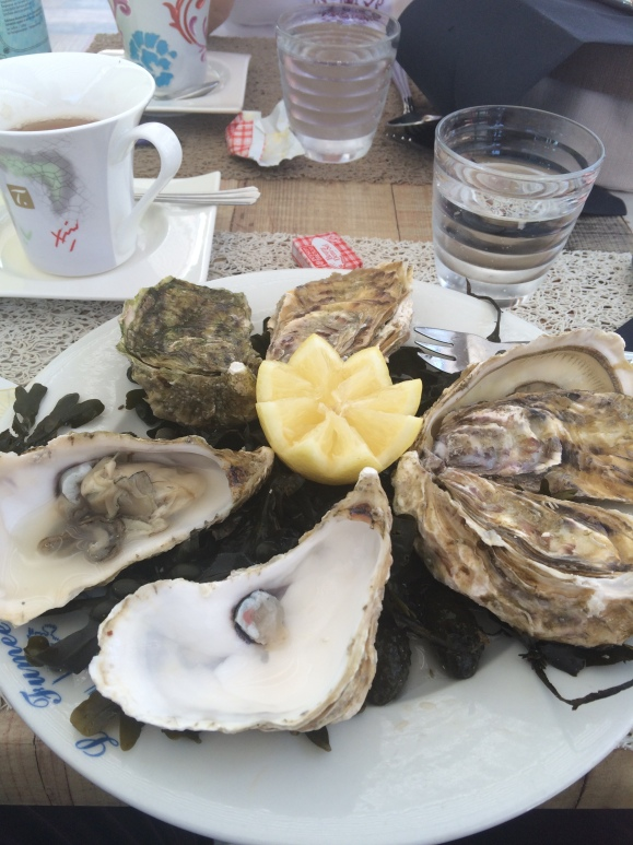 The oysters were magnificent.  Wish I'd had a couple of dozen!