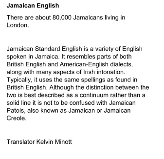 Jamaican English