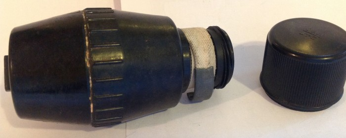 Mills grenade with tape