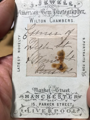 Back of Carte de Visite
