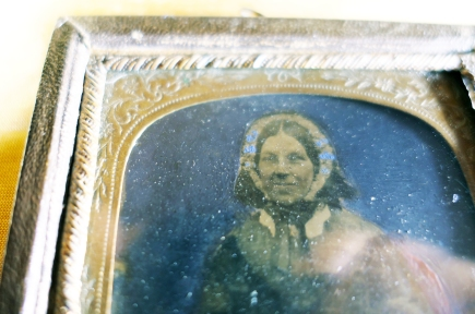 Tintype hand tinted